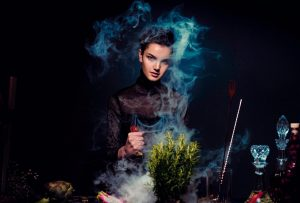 קוסם מארץ עוץ כמטאפורה בטיפול - תמונה של מכשפה