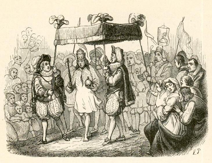 """איור ל""""בגדי המלך החדשים"""" מאת וילהלם פדרסון"""
